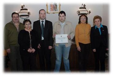 Entrega placa Ganador II Concurso Pinchos Medievales, 2009
